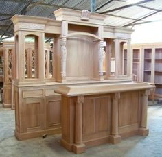 Custom Made Solid Mahogany Home Pub Bar Basement Bar Plans, Basement Bar Designs, Home Bar Designs, Pub Bar, Bar Antique, Door Design, House Design, Home Bar Furniture, Furniture Ideas