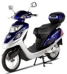 X-Treme Scooters Electric Bicycle Scooter Moped (Blue) - http://www.bicyclestoredirect.com/x-treme-scooters-electric-bicycle-scooter-moped-blue/