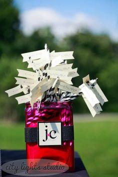 Real Wedding: Jodi and Chris, Buffalo, NY- Paper Straws