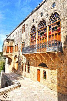 The beautiful old architecture in #Mokhtara By Jack Sakabedoyan  #Lebanon