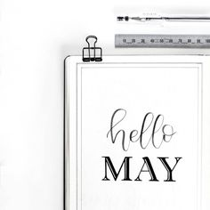 """""""Hello May! """" is a great way to greet a new month in your Bullet Journal. Bullet Journal Title Page, May Bullet Journal, Bullet Journal Travel, Bullet Journals, Hello May, Best Planners, Bullet Journal Inspiration, Cover Pages, Happy Planner"""