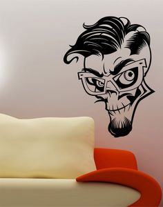 Check out this item in my Etsy shop https://www.etsy.com/listing/197054408/greaser-rockabilly-skull-wall-vinyl