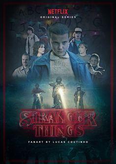 Pôster Stranger Things - Fanart Veja speed art da criação: https://www.youtube.com/watch?v=9kzdZjR7rDk&feature=youtu.be