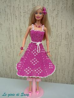 Barbie abito fuxia