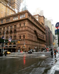 Carnegie Hall, winter in NYC