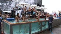 shipping Container pool Tommy Hilfiger denim on Bread & Butter Berlin with Container building