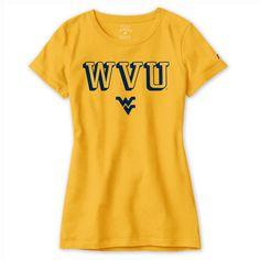 Women's WVU Freshy Athletic Yellow Tee