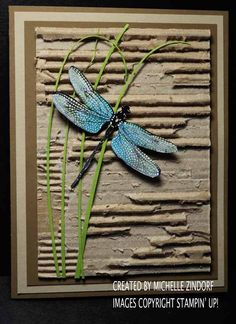 Out of the box Dragonfly Dreams – Stampin' Up! Card created by Michelle Zindorf