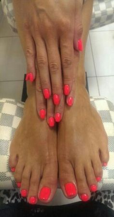 New summer pedicure colors toenails fun 20 Ideas Pedicure Rosa, Summer Pedicure Colors, Cute Pedicures, Summer Toe Nails, Pedicure Nail Art, Cute Nails, Bright Coral Nails, Summer Nail Colors, Nail Art