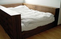 I really want this enclosed bed - so cozy & built in ledge for your coffee in the morning