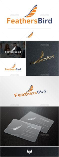 FeathersBird  Logo Design Template Vector #logotype Download it here: http://graphicriver.net/item/feathersbird-logo-template/8873878?s_rank=353?ref=nexion