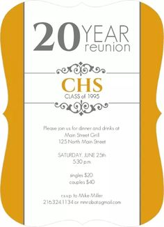 9 Best Class Reunion Invitations Images High School Class Reunion