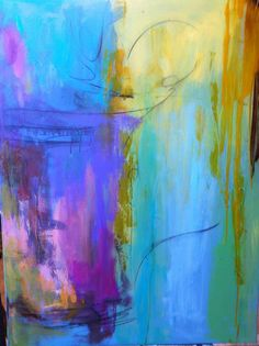 Pretty...looks like the sun bleeding into the sky? Love it.  my abstract art by Carrie Clayden