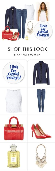 """""""Casual Friday"""" by katiethomas-2 ❤ liked on Polyvore featuring Michael Kors, Alice + Olivia, Frame Denim, Tyler Alexandra, Valentino, Natural Curiosities, Creed, Suzanna Dai and Dolce&Gabbana"""