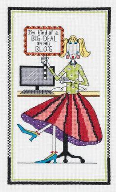 "Janlynn Dolly Mama's I'm A Big Deal Counted Cross Stitch Kit 6""X10"" 14 Count Janlynn http://www.amazon.com/dp/B004MIU7HW/ref=cm_sw_r_pi_dp_pmW9wb0HPZGAJ"