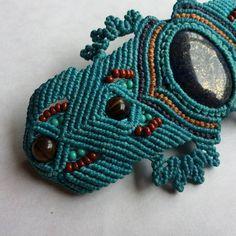 Lapis Lazuli Macrame Bracelet Bohochic Semiprecious Stone