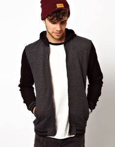 Bomber In Jersey With Hood