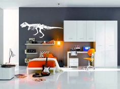 large TRex Dinosaur vinyl Wall DECAL museum interior by EyvalDecal, $45.00