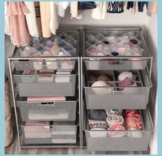 This is the easiest, fastest way we know to create custom-made organization for socks, hosiery and accessories. Available only at The Container Store, our Drawer Organizer can fit in any size drawer… Cute Dorm Rooms, Cool Rooms, Small Rooms, Small Spaces, Closet Drawers, Closet Storage, Dorm Storage, Dorm Room Organization, Home Decor Ideas