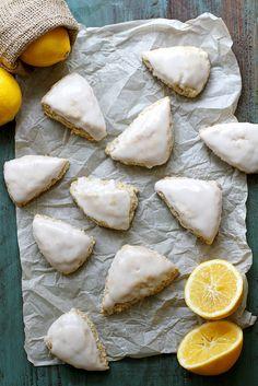 Mini Meyer Lemon Coconut Scones | girlversusdough.com @stephmwise