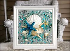 Beach Glass Art Nautical Decor Beach Decor for Bathroom Coastal Decor Wall Art Seaglass Art Sea Glass Wall Art Seashell Glass Art Sea Glass Crafts, Sea Glass Art, Glass Wall Art, Stained Glass Art, Wall Art Decor, Water Glass, Shell Crafts, Resin Crafts, Resin Art