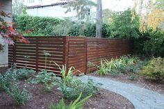Get tips on designing attractive privacy fencing. Plus learn the right height for a privacy fence., Front yard fence, Fences and House fence design, Fences, Backyard fences and Fencing. House Fence Design, Modern Fence Design, Front Yard Design, Modern Landscape Design, Front Yard Fence, Fenced In Yard, Front Yards, Landscape Architecture, Garden Design