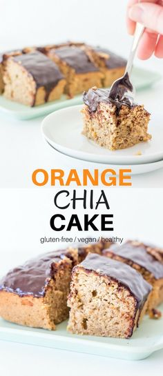 Do yourself afavourand try this Orange Chia Cake. It's quick to make, incredibly delicious and not too bad for your health either.#vegan #healthy #cakes #glutenfree #recipes #chocolate