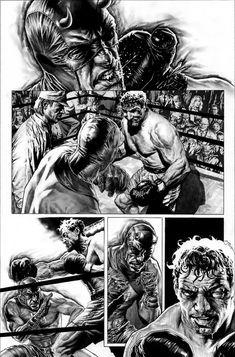 Bruises and Black Eyes, Daredevil page by Lee Bermejo