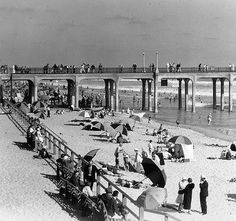 Huntington Beach Pier, CA. Built in 1914...first U.S. concrete pier