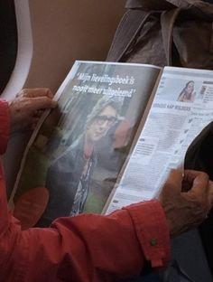 Reclame in de Metro gespot door Margot Bosch