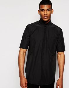 ASOS+Shirt+With+Funnel+Neck+and+Half+Sleeve