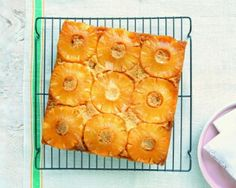 Ultra-Moist Cornmeal Upside-Down Cake Recipe #cake #dessert