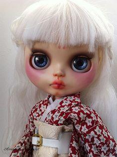 SPRING SALESakura. OOAK custom Blythe doll. by AriadnaSThread