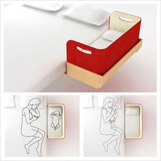 how cool is this, super modern co-sleeper!