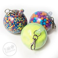 Durable Fidget Key Chain Balls | Stress Ball Fidget Hand Strengthening Toy