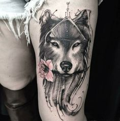 Im in LOVE ❤with this wolf tattoo!!!!!!