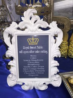 Royal Baby Shower Baby Shower Party Ideas | Photo 8 of 22 | Catch My Party