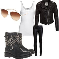 biker chic look | Biker Chic Look | Rock Fashion