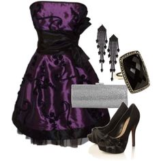 Purple Party Glam, created by chercabula on Polyvore