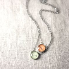 Double Linked Necklace With Kids Handwriting   2 by J4JCharms, $58.00