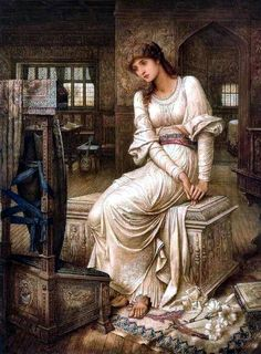 Elaine by John Melhuish Strudwick Handmade oil painting reproduction on canvas for sale,We can offer Framed art,Wall Art,Gallery Wrap and Stretched Canvas,Choose from multiple sizes and frames at discount price. John William Godward, John Everett Millais, Dante Gabriel Rossetti, Charles Edward, Medieval Witch, Pre Raphaelite Paintings, The Lady Of Shalott, Pre Raphaelite Brotherhood, Edward Burne Jones
