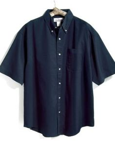 Tri-Mountain Men`s Big And Tall Stain Resistant Short-Sleeve Twill Dress Shirt. 768 $26.99 - $39.99