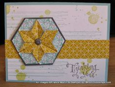 Hexagon Punch for a Star Video - Stamp & Scrap with Frenchie