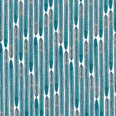 125703 Plumes | Turquoise Quilter's Cotton from Biology by Sarah Watson for Cloud9 Fabrics