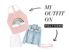 """Subtle Pink"" by eaftsohg on Polyvore featuring Steve J & Yoni P, Miss Selfridge, Pink, denim, rainbow and choker"