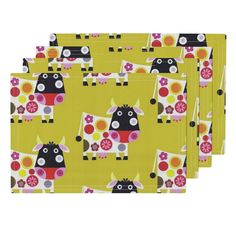 Lamona Cloth Placemats featuring Gertrude by floramoon_designs   Roostery Home…
