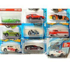 Hot Wheels Mach 6 Mustang Delorean Metrorail T Bird Go Cart Die Cast Cars 1:64 #Mattel