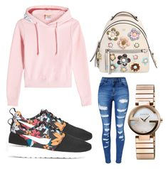 """""""yea"""" by maylingtolliver on Polyvore featuring Vetements, Fendi, Gucci, WithChic and NIKE"""
