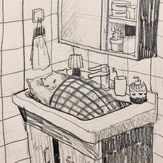 Anime Drawings Sketches, Cool Drawings, Arte Sketchbook, Hippie Art, Sketchbook Inspiration, Cool Artwork, Doodle Art, Cat Art, Art Pictures
