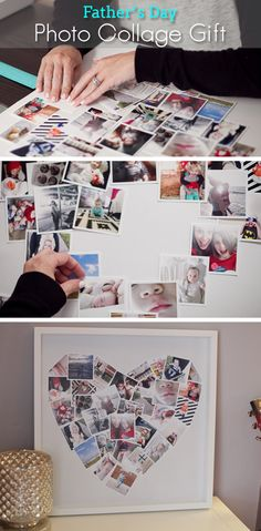 DIY Fathers Day Photo Collage Gift - Fathers Day Arts & Crafts Projects  - Click for Tutorial
